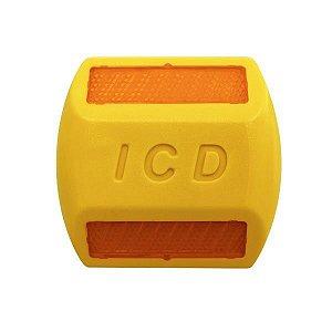 Tacha refletiva Bidirecional Plástico injetado - Amarela - Tipo II - ICD Vias