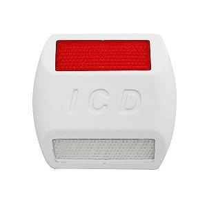 Tacha refletiva Bidirecional Plástico injetado - Branca - Tipo II - ICD Vias