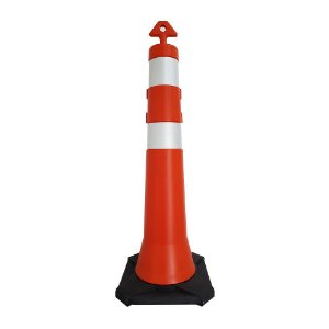 Cone balizador com base de borracha 115 cm