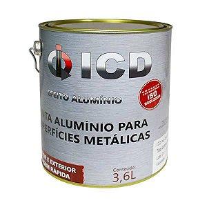 Tinta alumínio para superfícies metálicas 3,6 Litros - ICD Vias