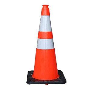 Cone de sinalização de trânsito flexível de PVC 75 cm