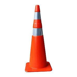 Cone flexível de sinalização - 90 cm