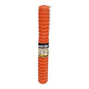 Tela de tapume laranja - 1,20 x 50 m - Vonder