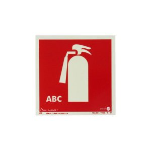 Placa Fotoluminescente Extintor ABC