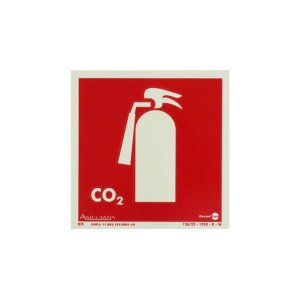 Placa Fotoluminescente Extintor CO2