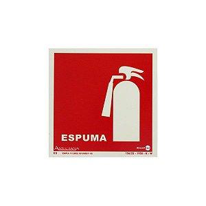 Placa Fotoluminescente Extintor Espuma