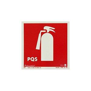 Placa Fotoluminescente Extintor PQS