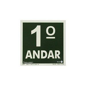 PLACA FOTOLUMINESCENTE PRIMEIRO ANDAR - 18 X 18 CM