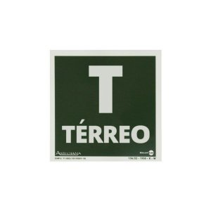 Placa Fotoluminescente Térreo