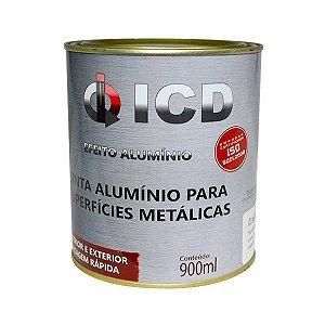 Tinta alumínio para Superfícies Metálicas 900 ml - ICD Vias