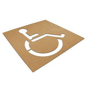 Gabarito de MDF - Cadeirante
