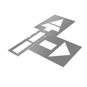 Gabarito de aço - Setas direcionais