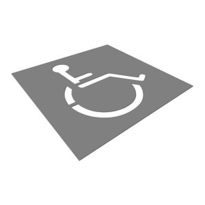 Gabarito de aço - Cadeirante