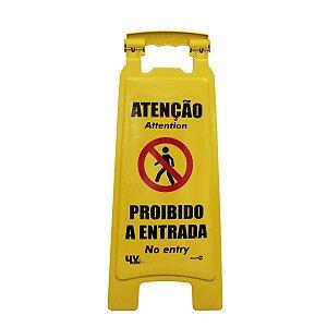 CAVALETE ATENÇÃO PROIBIDO A ENTRADA