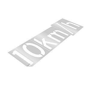 Gabarito de vinil adesivo - Velocidade permitida 10km/h