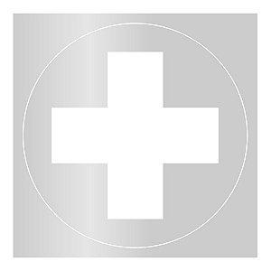 """Gabarito de vinil adesivo - """"Serviços de Saúde"""" SAS"""