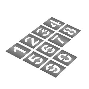 Gabarito de aço - Kit completo de numeral