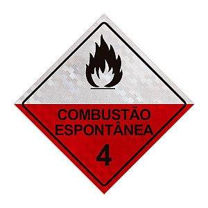 Placa para caminhão - Combustão espontânea 4 - 30 x 30 cm ACM 3 mm