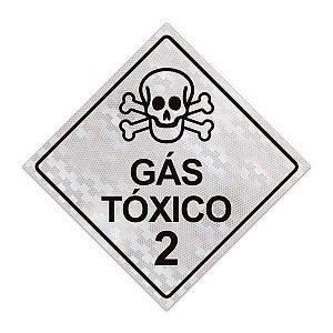 Placa para caminhão - Gás tóxico 2 - 30 x 30 cm ACM 3 mm