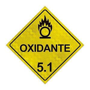 Placa para caminhão - Oxidante 5.1 - 30 x 30 cm ACM 3mm