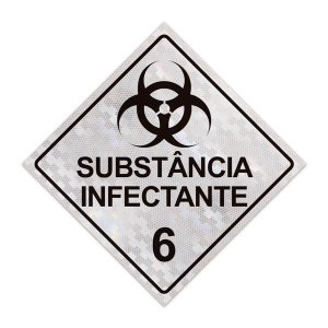 Placa para caminhão - Substância infectante 6 - 30 x 30 cm ACM 3 mm