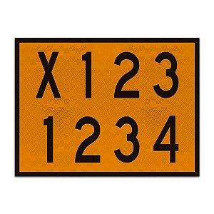Placa de carga mista - Transporte de risco (40 x 30cm)