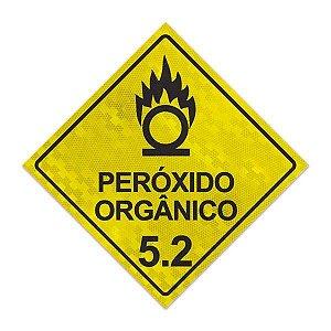 Placa para caminhão - Peróxido orgânico 5.2 - 30 x 30 cm ACM 3 mm