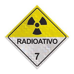 Placa para caminhão - Radioativo 7 - 30 x 30 cm ACM 3 mm
