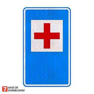 Placa Pronto socorro (hospital) - Serviços auxiliares (SAU-10)