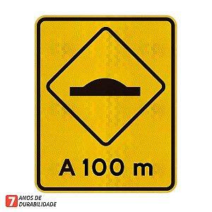 Placa saliência ou lombada A-18 (A 100 m)