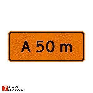 Placa de Obras - A 50 metros