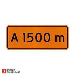 Placa de Obras - A 1500 metros