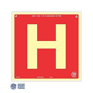 Placa Fotoluminescente - E9 Hidrante - 15 x 15 cm