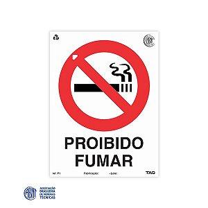 Placa de PVC - P1 Proibido Fumar - 15 x 20 cm