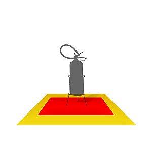 Adesivo área de segurança (extintor e hidrante) E17 - 1 x 1 m