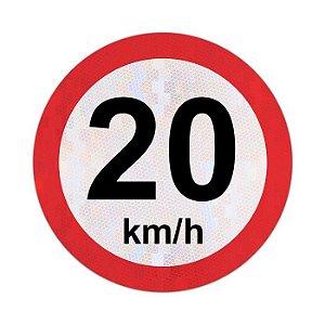 Placa velocidade máxima permitida 20km/h - R-19