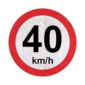 Placa velocidade máxima permitida 40km/h - R-19