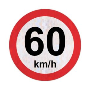 Placa velocidade máxima permitida 60km/h - R-19