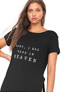 T-Shirt Alongada com Fenda