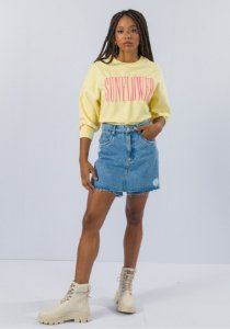 Short Saia Jeans Comfort Super High