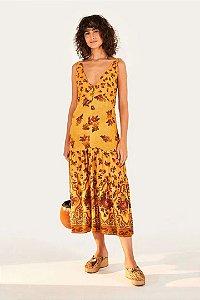 Vestido Cropped Floral Ponto Cruz