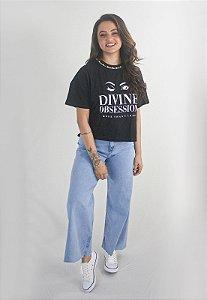 Blusa de Malha Bordada Gola com Pérola