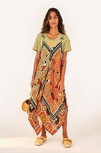Vestido Midi Lenço Silk Tucano Tropical