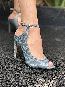 Sapato Salto alto de croco