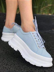 Tenis flatform azul