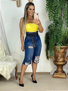 Bermuda Jeans Mom Super High