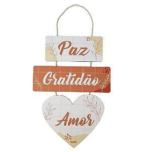 Trio Plaquinhas - Paz, Gratidão e Amor