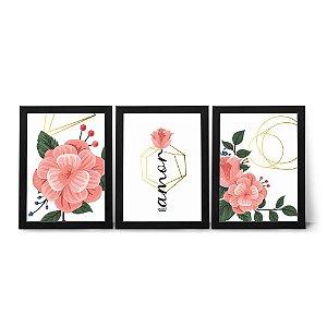 Kit Quadros - Amor Floral
