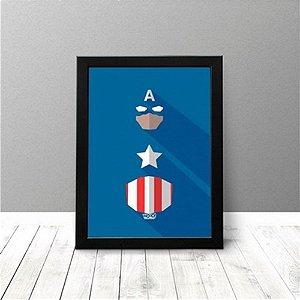 Quadro Criativo - Capitão América