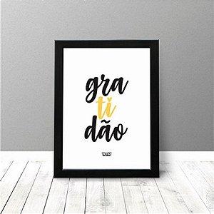 Quadro Criativo - Gratidão